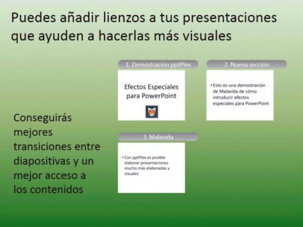 Vista global de una presentación en PowerPoint