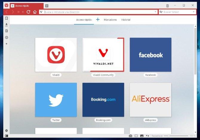 Vivaldi también implementa el Speed Dial que vimos en Opera