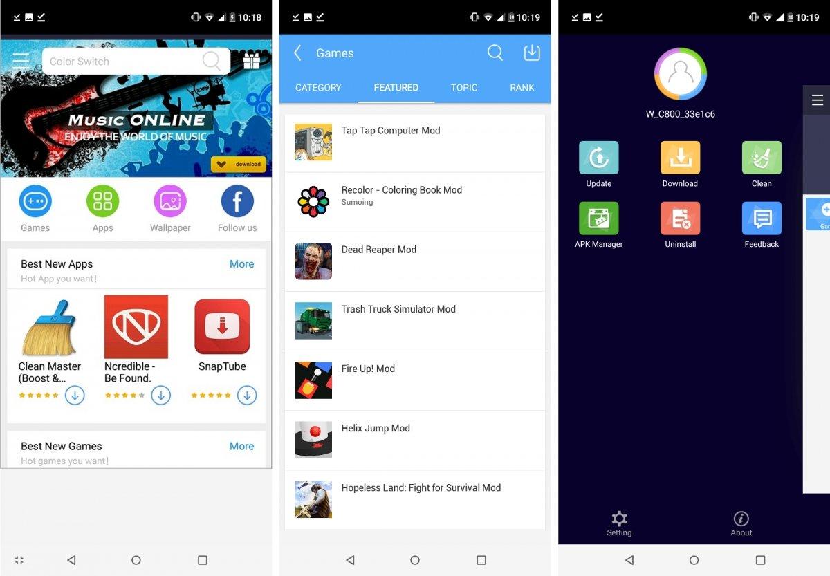 vShare ofrece app y juegos con compras integradas gratis