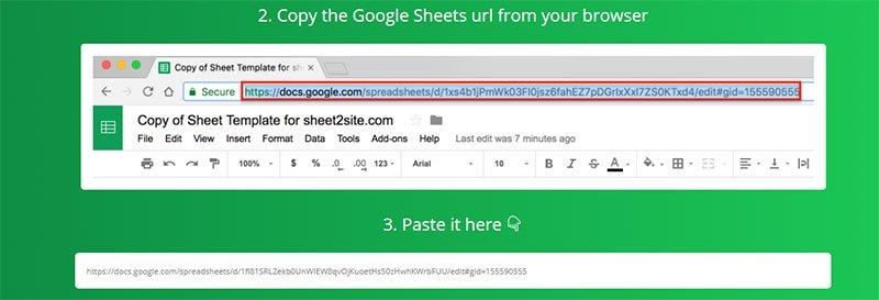 Cómo convertir una hoja de cálculo de Google en una página web