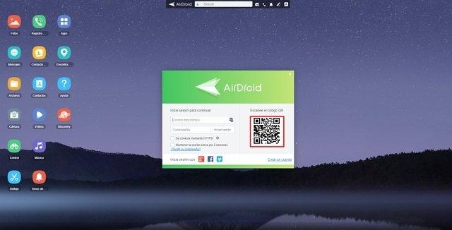 Web de Airdroid