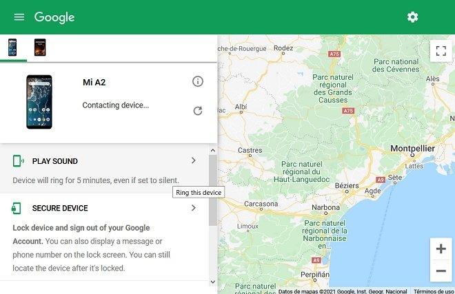 Web de localización de Google