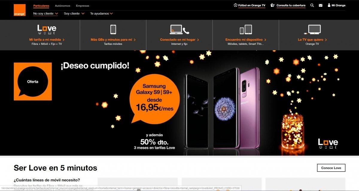 Web de Orange España