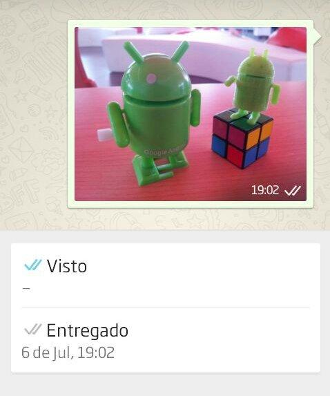 WhatsApp añade doble check azul para mensajes leídos en Android y iOS - imagen 3