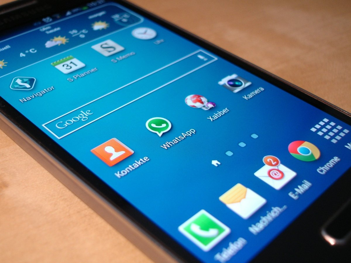 WhatsApp en un terminal Android