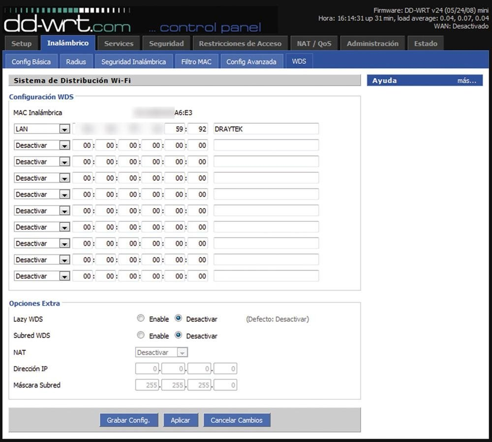 WiFi con WDS 5