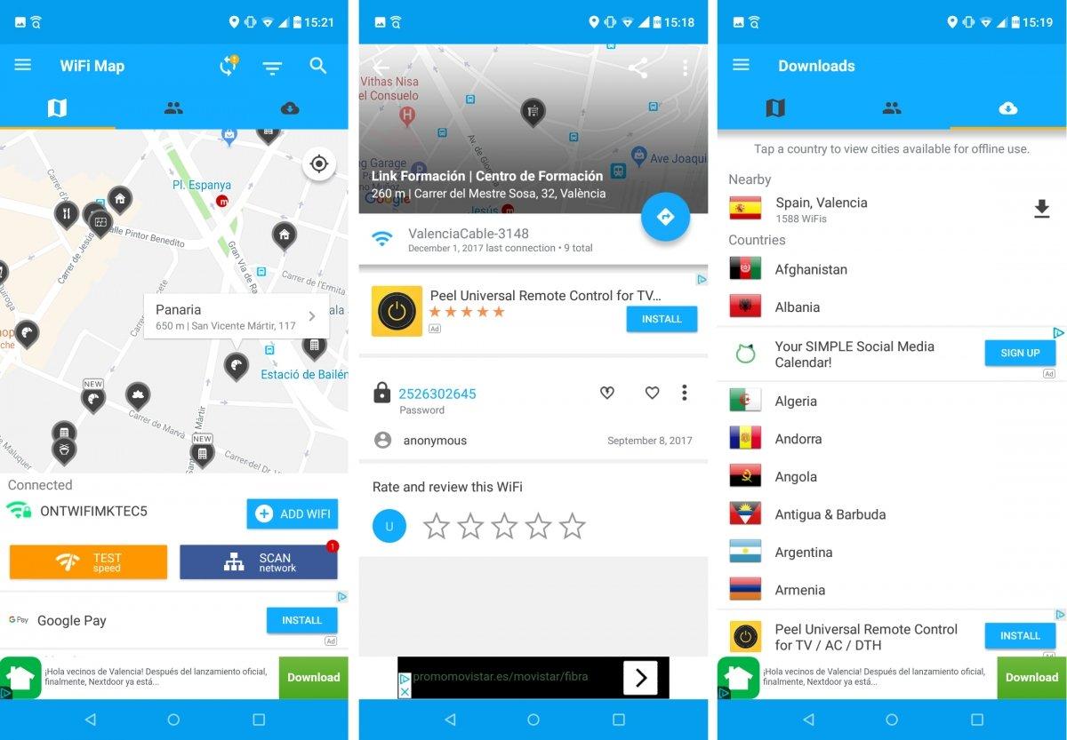 Wifi Map ofrece muchos detalles sobre redes disponibles