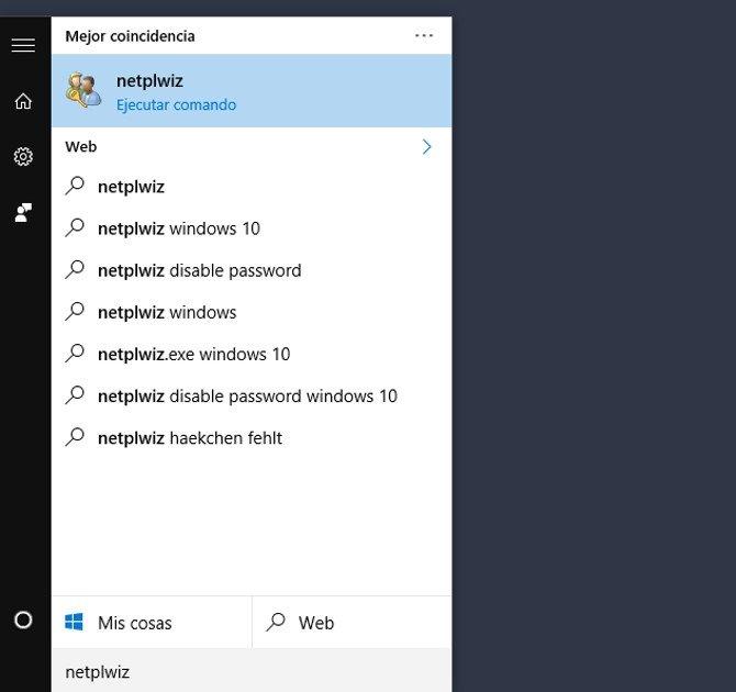 Windows 10: newplwiz (comando para entrar en Cuentas de Usuario)