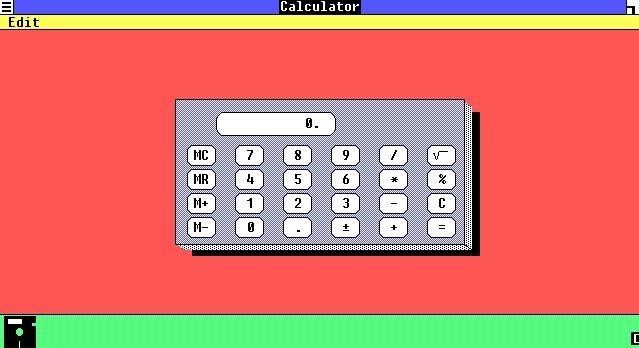 Windows 1.0 viene con una calculadora muy básica