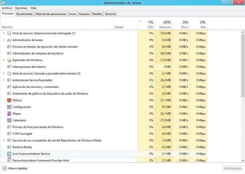 Windows 8. Administrador de tareas