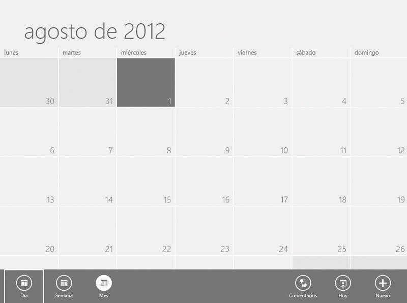 Windows 8 aplicaciones Metro