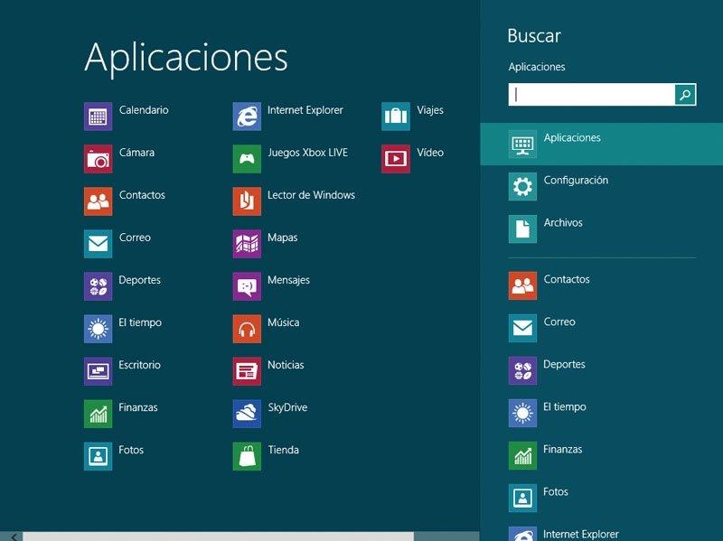 Windows 8 Buscar