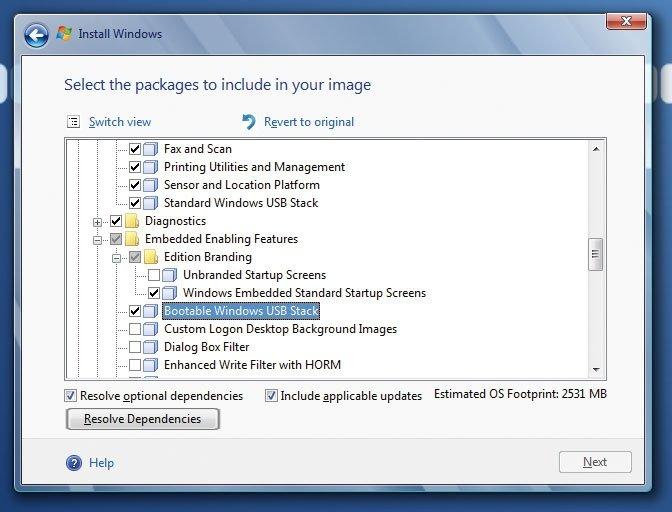 Windows en USB 2