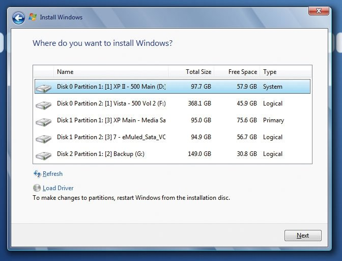 Windows en USB 6