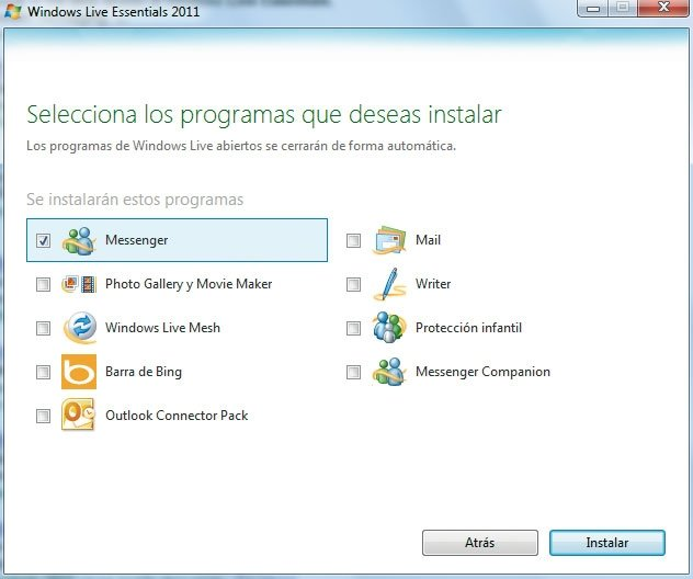 Windows Live Messenger práctico 1