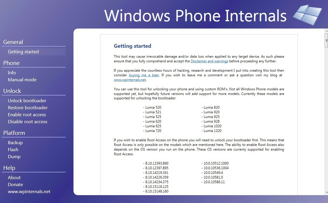 Windows Phone Internals te ayudará a conseguir los permisos de superusuario