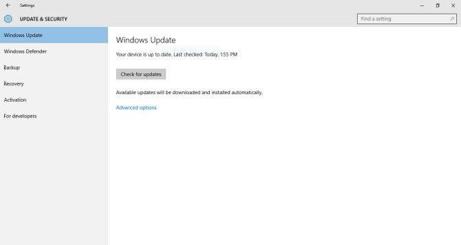 Windows Update en Windows 10