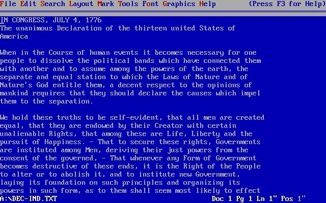 WordPerfect 5.1 para MS-DOS