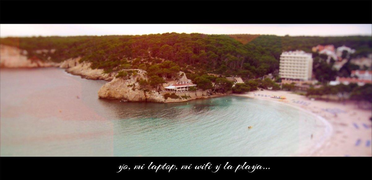 ¡Vista desde mi oficina el pasado verano en Mallorca!