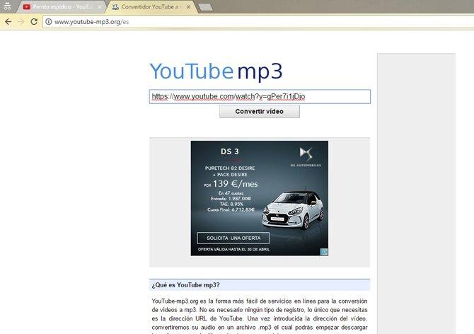 YouTube MP3, a un pasito de obtener tu temazo más deseado