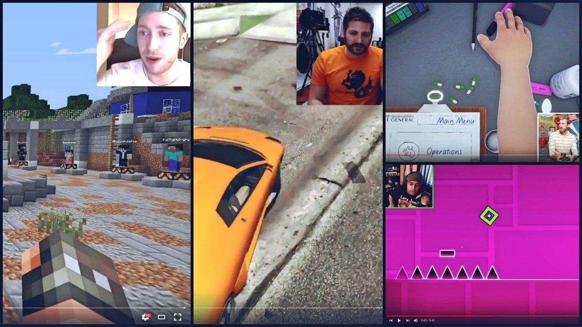 Youtubers grabando vídeos Let's play de sus partidas.