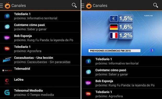 Zattoo también nos ofrece acceso a Televisión Española