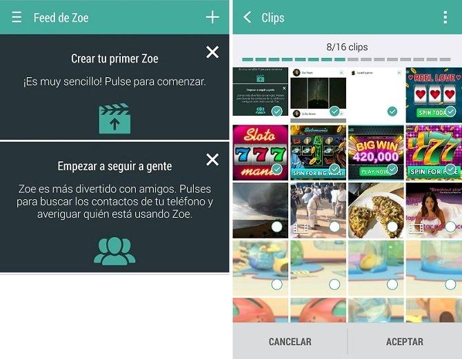 Zoe, la aplicación de remezcla y edición de vídeos de HTC - imagen 3