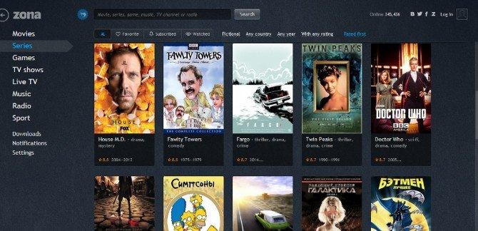 Zona.ru, más de 90.000 filmes y 10.000 series de tv