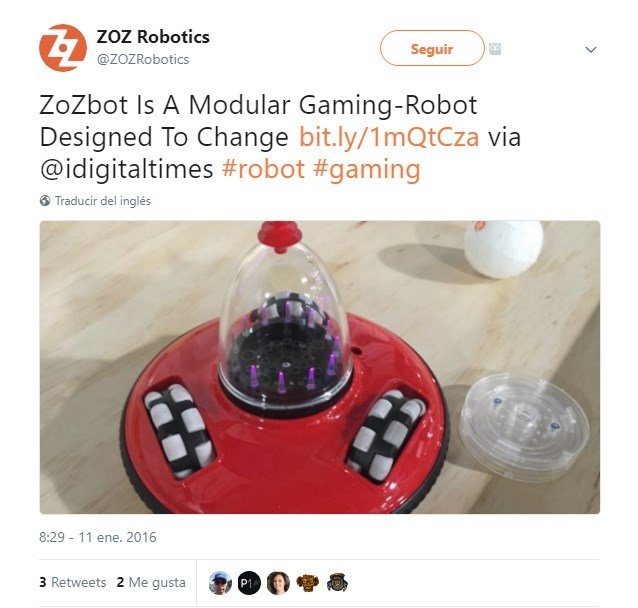 ZoZbot, un robot modular para jugar