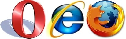 Opera, Internet Explorer y Firefox