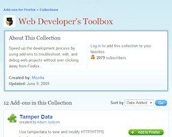 Colecciones de plugins de Mozilla: Web Developer's Toolbox