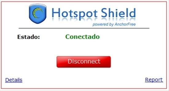 Hotspot Shield Conectado