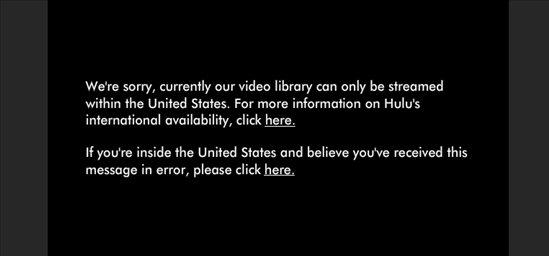 Hulu Error