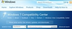Windows 7 Compatibility Center