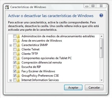 Componentes de Windows