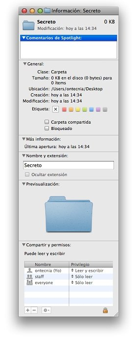 Modificar privilegios en Mac