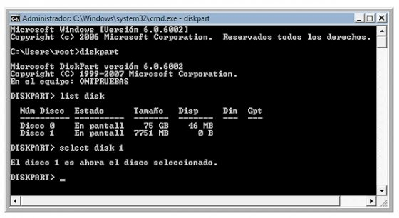 Arrancar Windows desde el USB