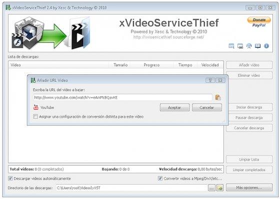 Descargar con xVideoServiceThief