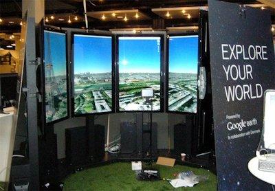 Google libera Liquid Galaxy, el Google Earth panorámico