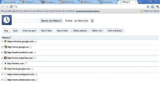 History Chrome