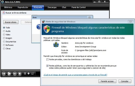 descargar ares gratis para pc windows 7