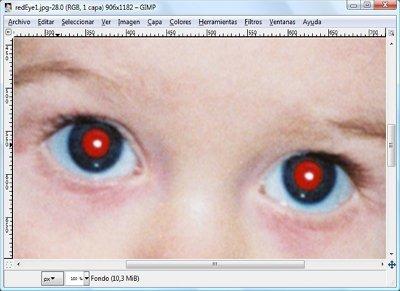 Elimina los ojos rojos de tus fotografías