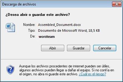 Descarga Directa de archivos