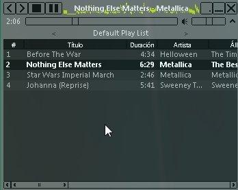 Reproductores minimalistas de audio MP3