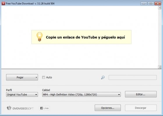 Descarga y sube vídeos a YouTube Introducir enlace
