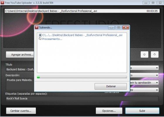 Descarga y sube vídeos a YouTube Configura la publicación