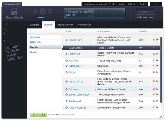 Un navegador especializado en música - 3