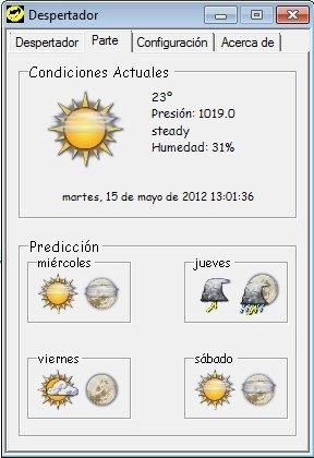 Panel de predicción meteorológica