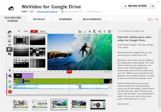Sincronizar WeVideo y Google Drive - 1