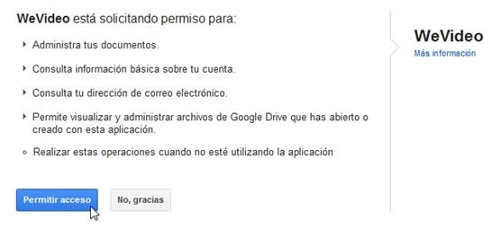 Sincronizar WeVideo y Google Drive - 4